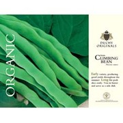 Climbing Bean 'Helda' - Duchy Originals Organic Seeds - 1 packet (20 climbing bean seeds)