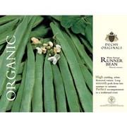 Runner Bean 'White Emergo' - Duchy Originals Organic Seeds - 1 packet (25 runner bean seeds)