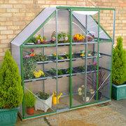 Norfolk Greenhouses Ultimate Spacesaver Greenhouse Green (2ftx6ft) - 1 x Greenhouse 2ft x 6ft (Green)