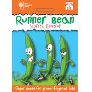 Runner Bean 'Scarlet Emperor' - RHS endorsed seeds for children - 1 packet (20 runner bean seeds)