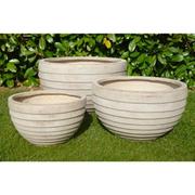 Croxton Garden Pot Set - 1 x Set of 3 Croxton Garden Pots in stone