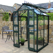 Eden Birdlip 44 Greenhouse + FREE Products Included - 1 x Greenhouse in Black (6mm polycarbonate glass)