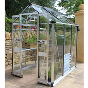 Eden Birdlip 46 Greenhouse + FREE Products Included - 1 x Greenhouse in Black (6mm polycarbonate glass)
