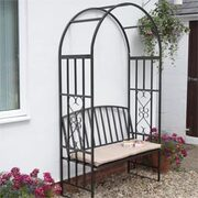 Huntingdon Arch and Bench with Cushion - 1 arch and bench with cushion