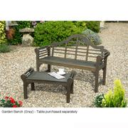 Lutyens Style Garden Bench - 1 garden bench (grey)