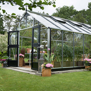 Juliana Gardener Greenhouse (12ft x 19ft) + FREE Products Included - 1 x Greenhouse in Black Aluminium (6mm polycarbonate glass sheets)