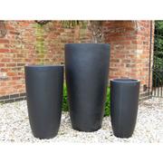 Long Bennington Garden Pot Set - 1 x Set of 3 Long Bennington Garden Pots in stone
