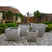 Orston Garden Pot Set - 1 set of 4 pots (stone)