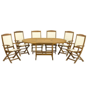 Turnbury 7 Piece Dining Set with Henley Highback Chairs - 1 x 7 piece dining set