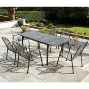 Royal Garden Savoy 7 Piece Extending Dining Set - 7 Piece Extending Dining Set