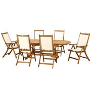 Edinburgh 7 Piece Dining Set with Henley Recliner Chairs - 7 Piece Dining Set