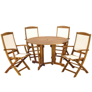 Henley 5 Piece Gateleg Dining Set with Henley Highback Armchairs - 1 x 5 piece dining set