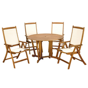 Henley 5 Piece Gateleg Dining Set with Henley Recliner Chairs - 1 x 5 piece dining set