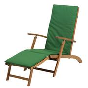 Napoli Steamer Chair - 1 steamer chair with cushion (green)