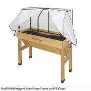 VegTrug™ Wall Hugger Greenhouse Frame & PE Cover - 1 small greenhouse frame with cover