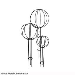 Globe Metal Obelisk (Black)