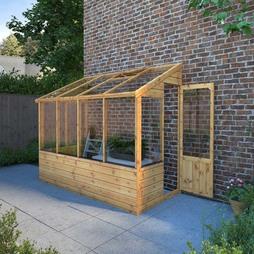 8 x 4 Waltons Leanto Pent Wooden Greenhouse