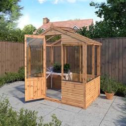 6 x 4 Waltons Evesham Wooden Greenhouse