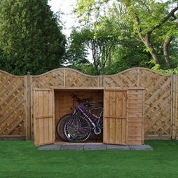 Waltons 3ft x 6ft Wooden Overlap Pent Bike Store