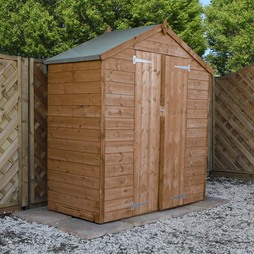3 x 6 Waltons Tongue and Groove Double Door Apex Garden Storage Shed