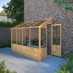 8x4 Budget Lean Too Greenhouse