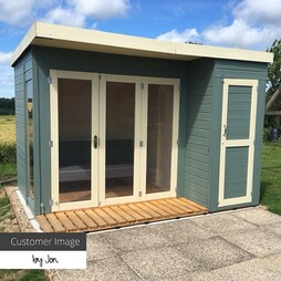 10 x 8 Waltons Contemporary Summerhouse with Side Shed