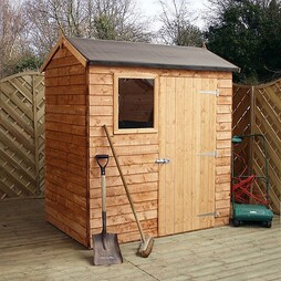 6 x 4 Walton's Reverse Overlap Apex Wooden Shed