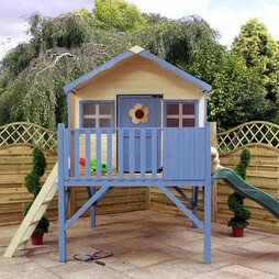 14 x 7 Waltons Honeypot Honeysuckle Tower Wooden Playhouse with Slide