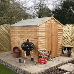 8 x 6 Waltons Windowless Overlap Apex Wooden Shed