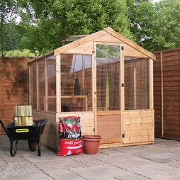 6 x 6 Waltons Evesham Wooden Greenhouse