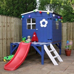 4 x 4 Waltons Honeypot Bluebell Tower Wooden Playhouse with Slide