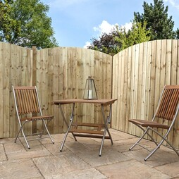 Feather Edge 1829mm Curved Pressure Treated