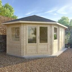 5m x 3m LS Corner Lodge+ 28mm Double Glazed