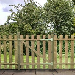 Pallisade Gate Rounded Top 915mm Pressure Treated