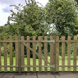 Pallisade Gate Rounded Top 1220mm Pressure Treated