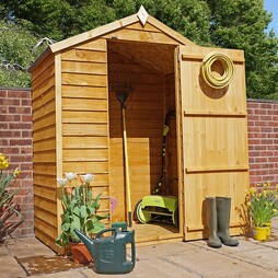 5 x 3 Waltons Overlap Apex Wooden Garden Shed
