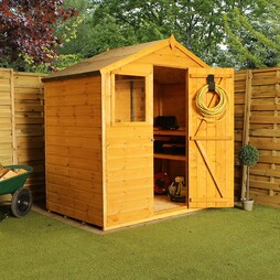 4 x 6 Waltons Tongue and Groove Reverse Apex Garden Storage Shed