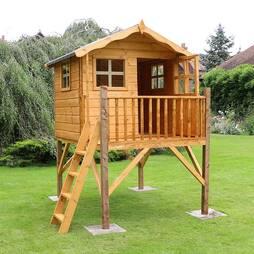 7 x 5 Waltons Honeypot Poppy Tower Wooden Playhouse