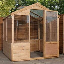6 x 4 Waltons Evesham Wooden Greenhouse