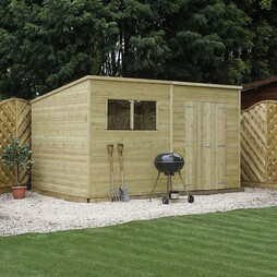 12 x 8 Pressure Treated Tongue and Groove Pent Shed