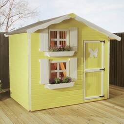 7 x 5 Waltons Honeypot Snowdrop Apex Wooden Playhouse with Loft