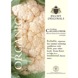 Cauliflower 'Goodman' (Summer) - Duchy Originals Organic Seeds