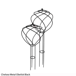 Chelsea Metal Obelisk (Black)
