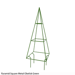 Pyramid Square Metal Obelisk (Green)