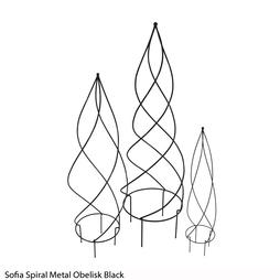 Sofia Spiral Metal Obelisk (Black)