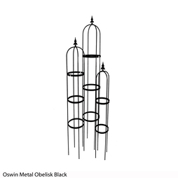 Oswin Metal Obelisk (Black)