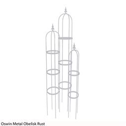 Oswin Metal Obelisk (Rust)