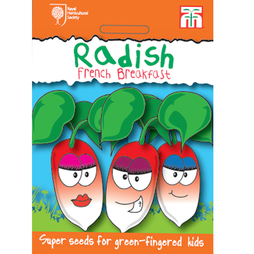 Radish 'French Breakfast 3' - RHS endorsed seeds for children