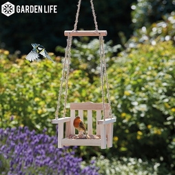 Garden Life Wooden Bird Feeder Swing - Gift