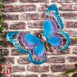 Metal & Glass Butterfly Wall Art - Gift